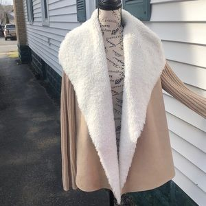 Faux shearling and Suede cardigan size XL